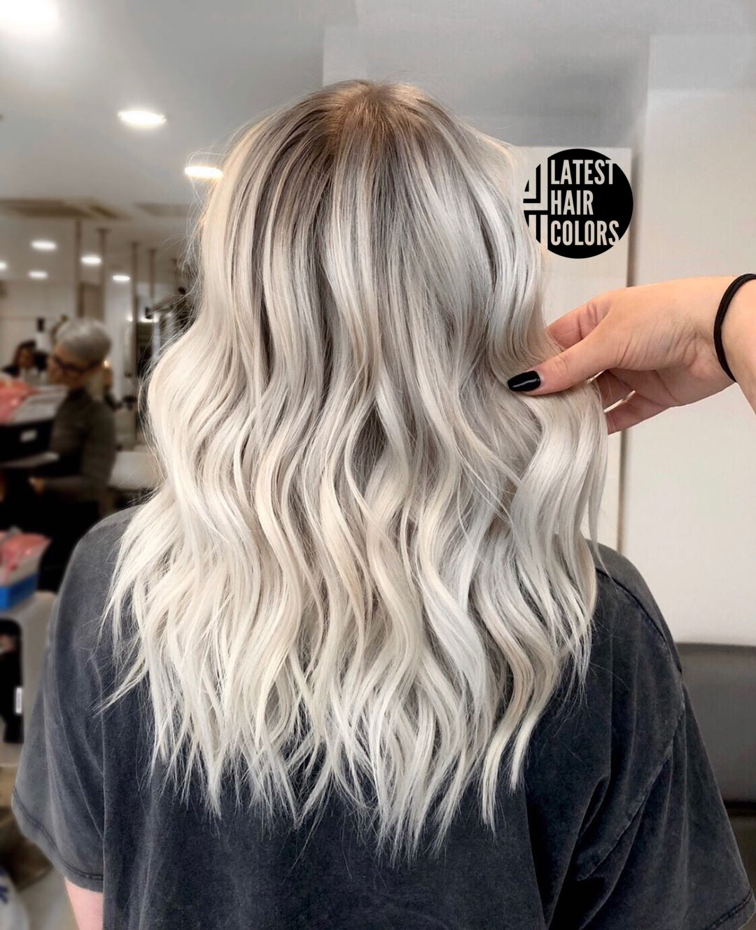 ash blonde platinum blonde ombre