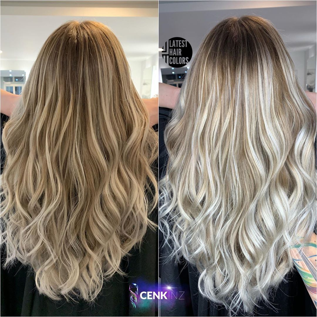 hair color transformation before and after