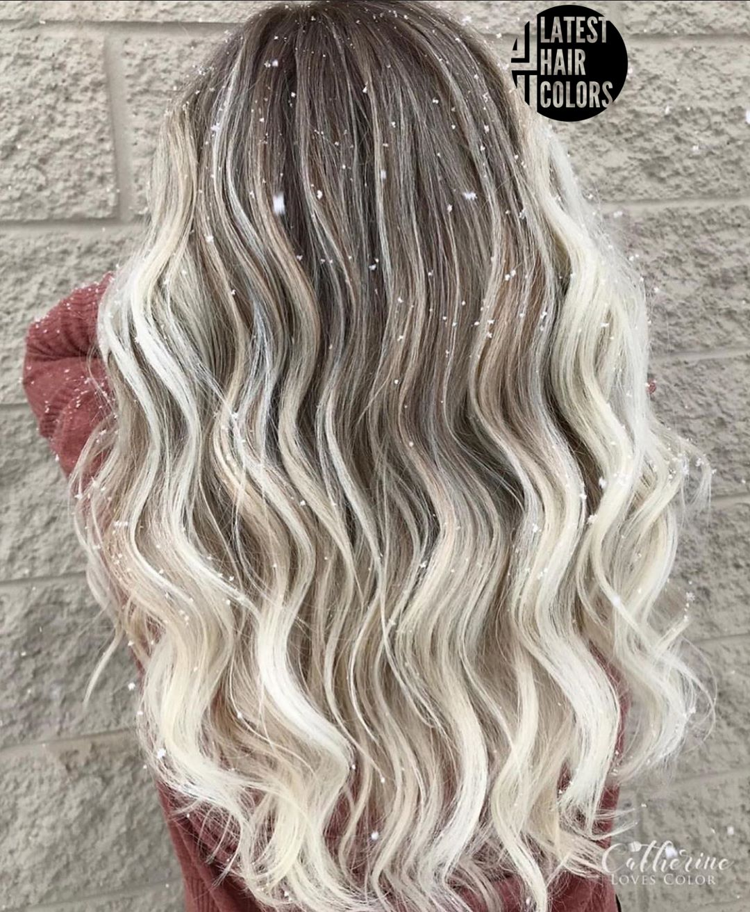 ombre blonde and black hair