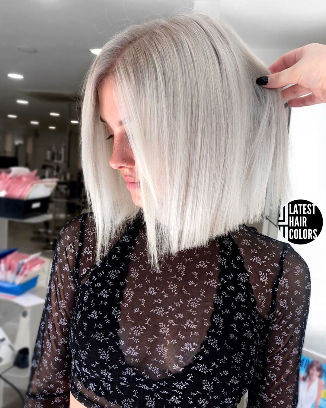 platinum blonde bob haircut
