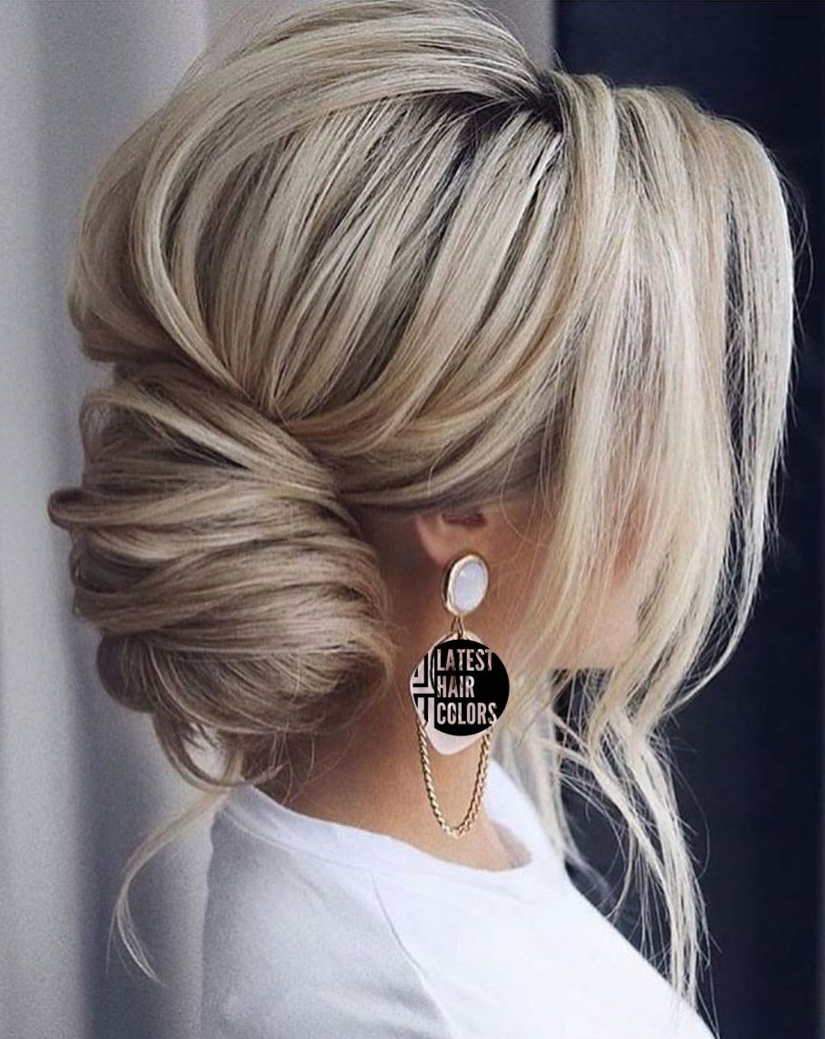 updo blonde hair