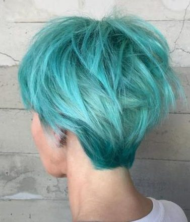 Long Turquoise Pixie