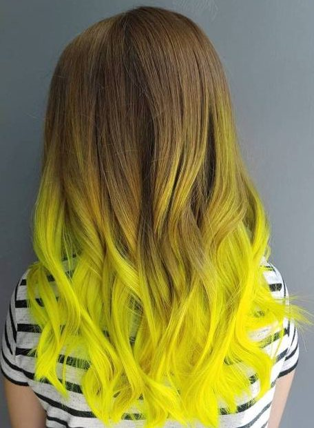 Brown To Yellow Ombre Hair
