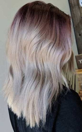 Pastel Purple Shadow Roots For Blondes