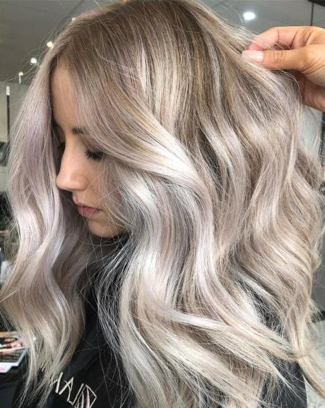 Long Metallic White Hair