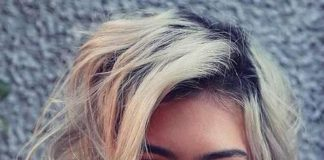 messy ash blonde hairstyle