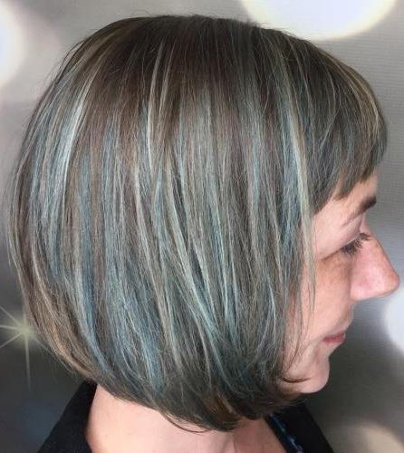 pastel-colored choppy bob