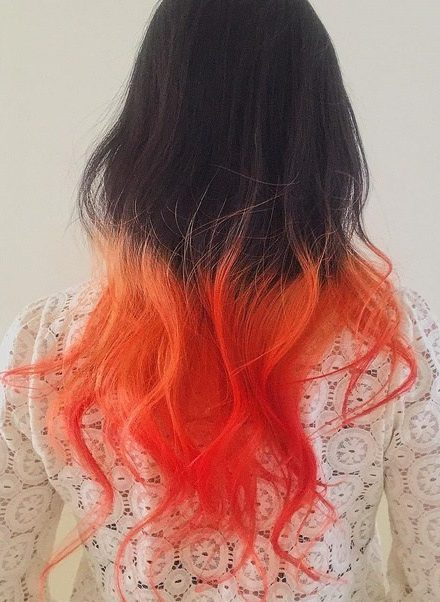 Brown To Orange Ombre