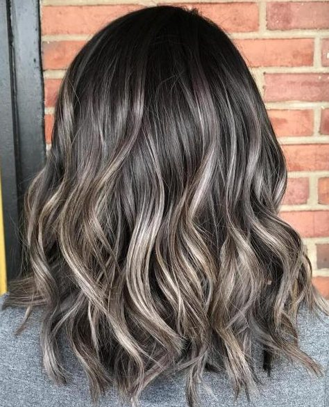 Subtle Ash Brown Balayage Lob