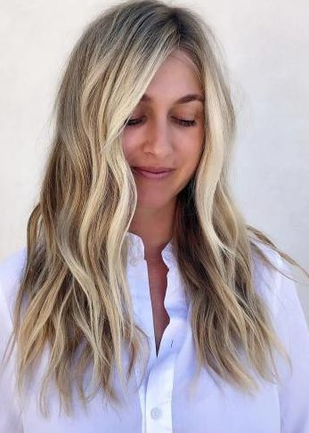 Face-Framing Balayage with Shadow Root