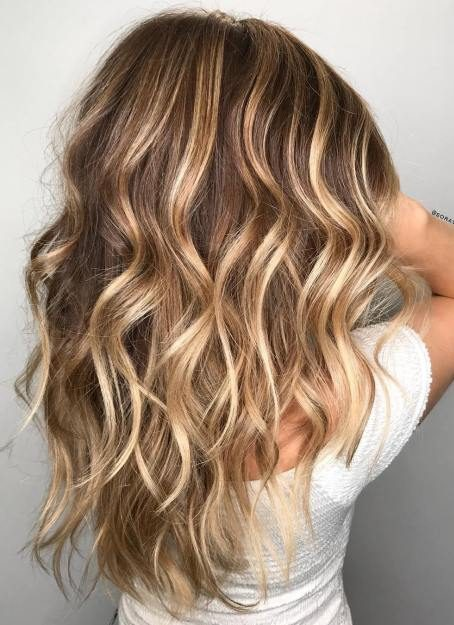 Caramel Blonde Balayage For Light Brown Hair