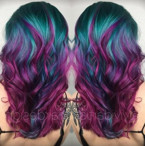 Teal And Violet Hair Color