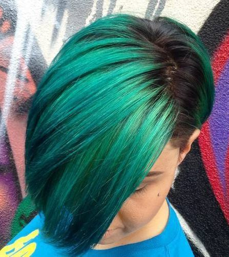 Green Asymmetrical Bob